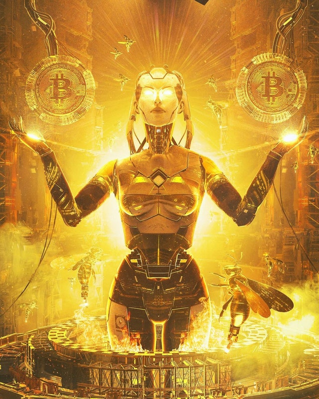 Bitcoin Goddess - Beeple