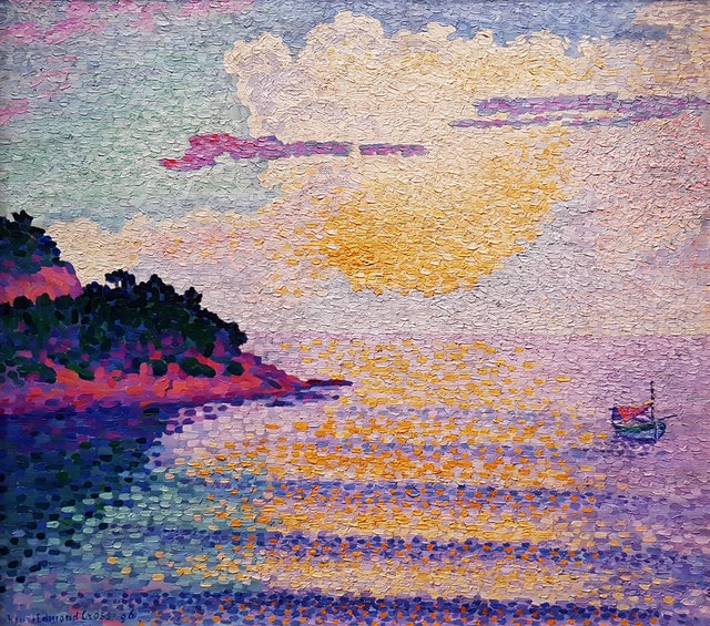 Sunset Over the Sea - Henri Edmond Cross